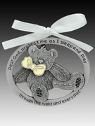 Crib Medal: Teddy Bear Glow in Dark