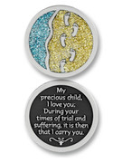 Glitter Coin: Footprints