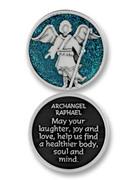 Glitter Coin: Archangel Raphael