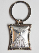 Key Ring: Sterling Silver: Dove