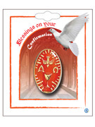 Combined Communion & Confirmation Lapel Pin: Red