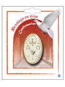 Combined Communion & Confirmation Lapel Pin: White (LP51404)