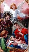 TJP Holy Card: Nativity: Obtain Favours #1