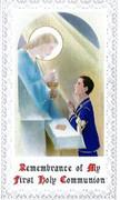 TJP Holy Card: First Communion Boy #3