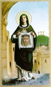 TJP Holy Card: St Veronica: Holy Face