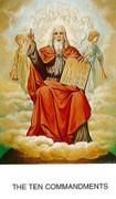 TJP Holy Card: Holy Father: 10 Commandments