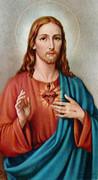 TJP Holy Card: Sacred Heart Jesus: Military Service #1