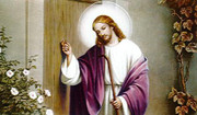 TJP Holy Card: Jesus Knocking: Living Alone