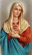 TJP Holy Card: Madonna: Afflicted