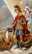TJP Holy Card: St Florian: Fireman's Prayer #1