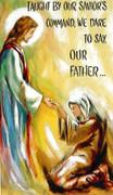 TJP Holy Card: Lord's Prayer
