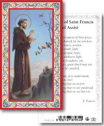 Holy Cards: 700 SERIES: St Frances Assisi pk100
