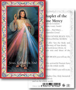 Laminated Holy Cards: 700 SERIES: Divine Mercy Chaplet