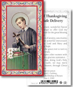 Holy Card: 700 SERIES: St Gerard Thanks safe Delivery each