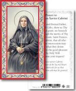 Laminated Holy Card: 700 SERIES: St Frances Xavier Cabrini