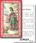 Holy Card: 700 SERIES: St Florian Firemans Prayer each