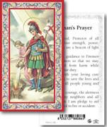 Holy Card: 700 SERIES: St Florian Firemans Prayer each