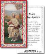 Laminated Holy Card: 700 SERIES:St Mark