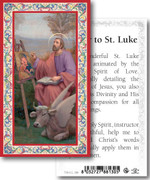 Laminated Holy Card: 700 SERIES:St Luke