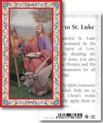 Laminated Holy Card: 700 SERIES:St Luke