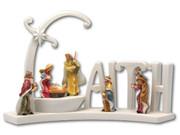LED Curved Nativity Scene FAITH (NST1880)