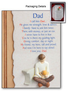 DAD RESIN PLAQUE