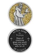 Glitter Coin: St Francis (PT690)