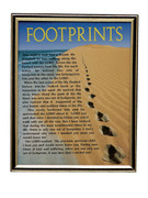 GOLD FRAME - FOOTPRINTS