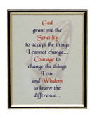 GOLD FRAME - SERENITY PRAYER