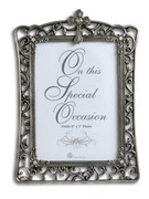 "Filigree Frame: Special Occasion (7"" x 5"")"