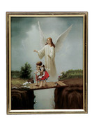 GOLD FRAME - GUARDIAN ANGEL on bridge