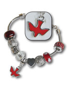 Charmed Bracelet: Red Dove