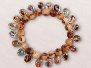 Saint Bracelet: Wooden Beads with 20 Saints