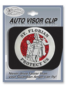 Glitter Visor Clip: St Florian