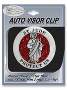 Glitter Visor Clip: St Jude