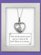 "Vision Pendant & Chain: ""Our Father"" Heart"