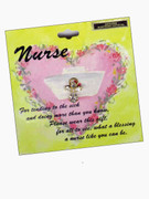 Austrian Crystal Pin: Angel, Nurse