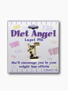 Lapel Pin: Diet Angel with Scales