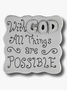 Fridge Magnet: With God