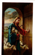 TJP Holy Card: Good Shepherd Luke 15