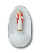Plastic Water Font: Sacred Heart Jesus (WF8601)