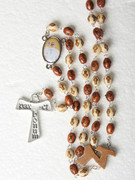 Olive Wood Rosary Beads: Pope Francis