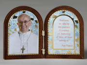 Bi-fold Desk Plaque: Pope Francis