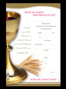 Communion Certificate: Golden Chalice
