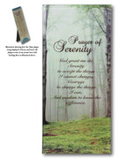 Message in Glass Plaque: Serenity