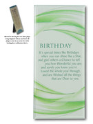 Message in Glass Plaque: Birthday