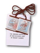 BROWN SCAPULAR WITH EMBROIDERY