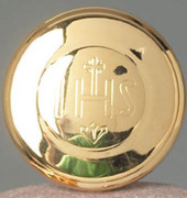 "Large Pyx, ""IHS"" Gold (CW836)"