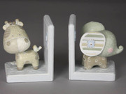 Baby Animals Book Ends Blue