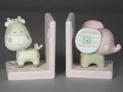 Baby Animals Book Ends Pink